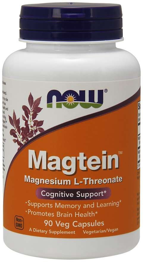 NOW FOODS Magtein Magnesium L-Threonate 90vcaps. - L-Treonian magnezu