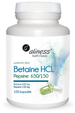 Aliness Betaine HCL, Pepsyna